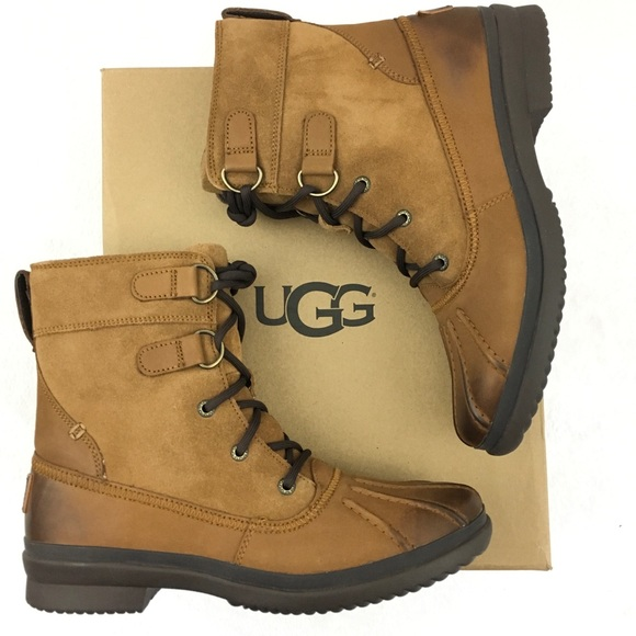37089677424 UGG Shoes   New Size 85 Azaria Waterproof Duck Boots   Poshmark